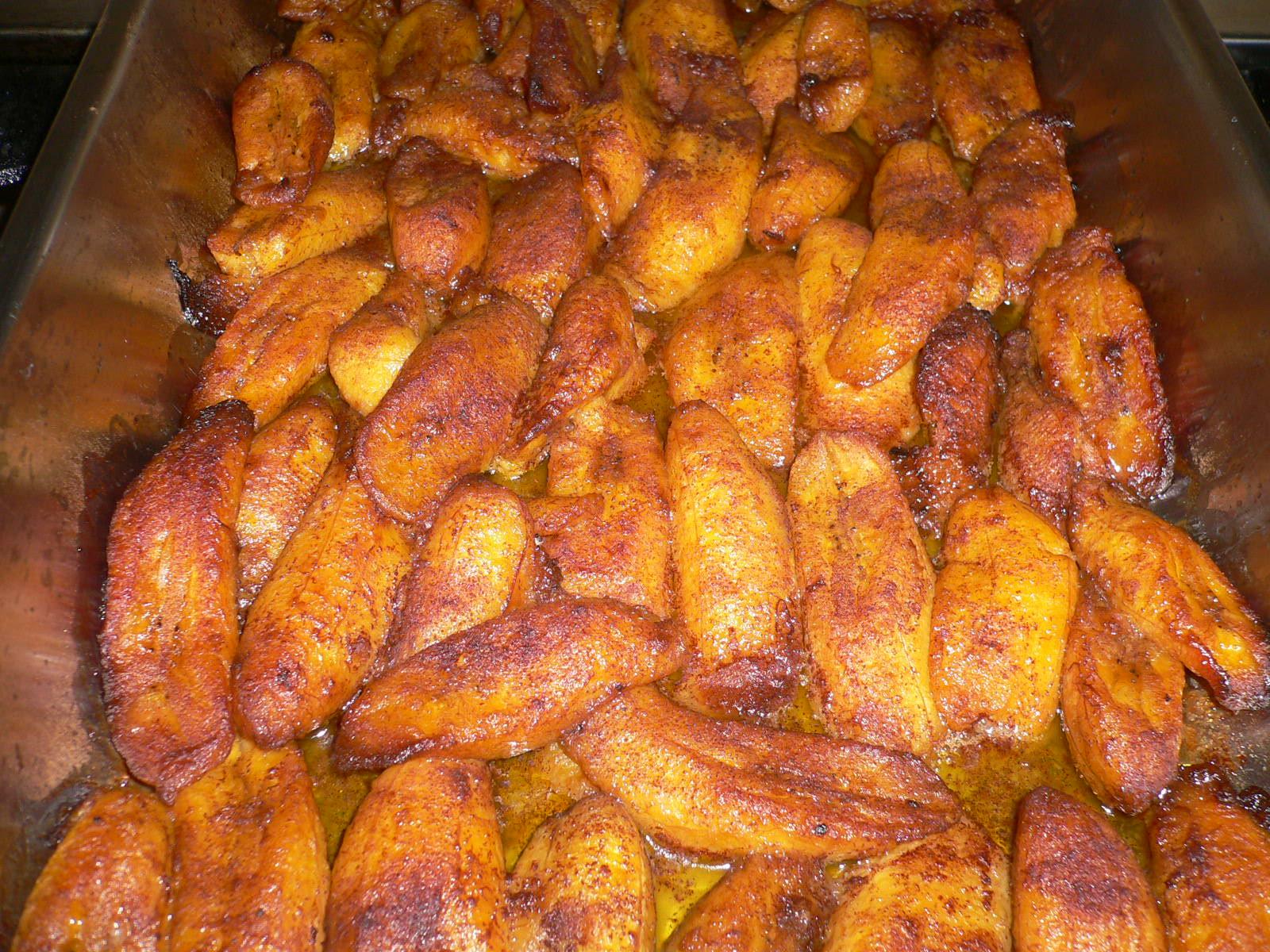 Cinnamon Vanilla Baked Plantains