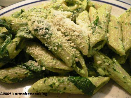 fresh-spinach-penne