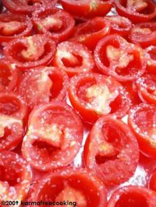 oven roasted tomatoes - prep