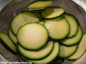 Sliced Zuchinni