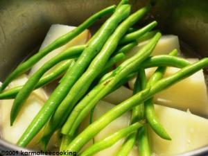 Steamed Green beans and Potatoes 1