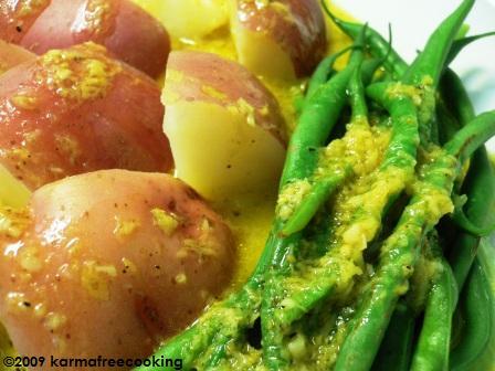 Steamed Veggies w- Horseradish Vin