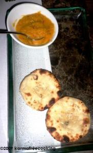 Roti w Pineapple chutney