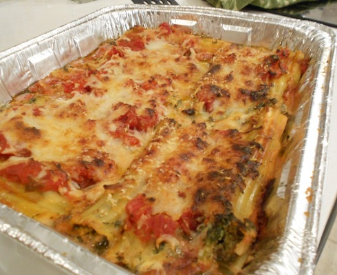 manicotti - cheese, spinach and mushrooms
