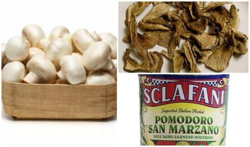 Mushroom Bolognese Collage