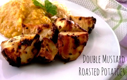 Double Mustard Roasted Potatoes