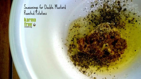 Double Mustard Potatoes - INgredients