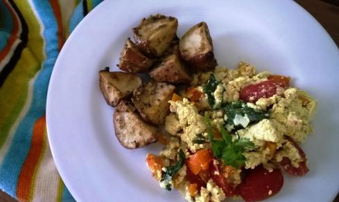 Tofu Scramble and Potatoes 1