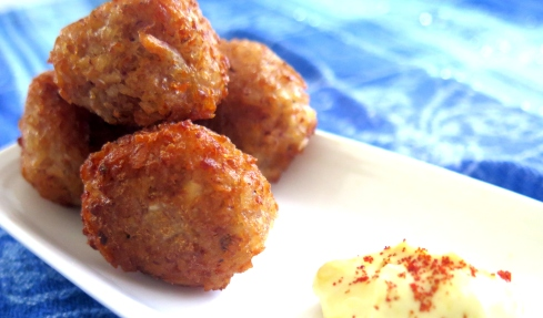 Taro Root Fritters