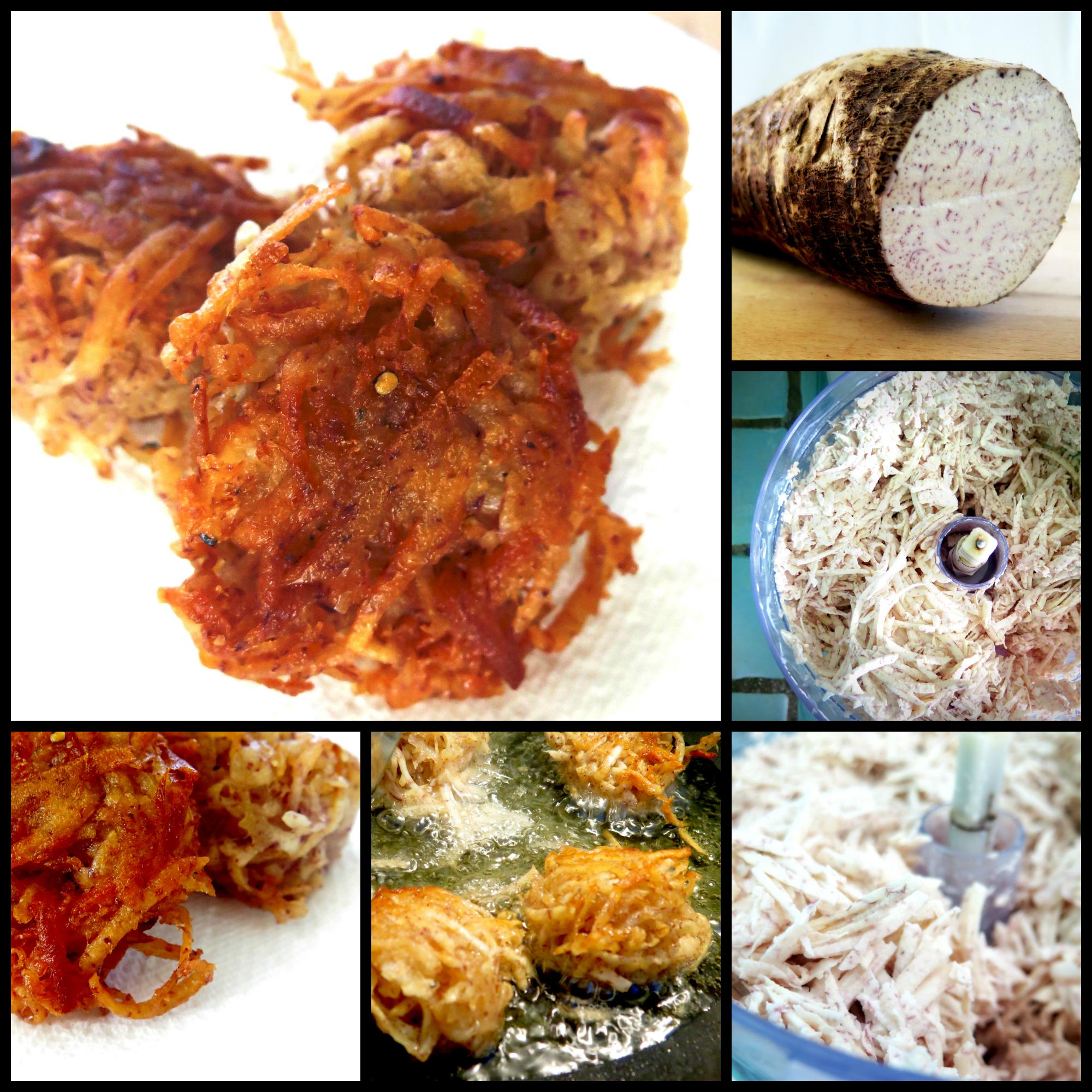 Taro Root Nests | KarmaFree Cooking