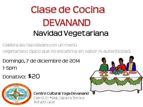 Clase Cocina Devanand - Diciembre 2014 - Navidad Vegetariana