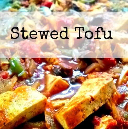 Tofu in Tomato Sauce with Onions and Peppers